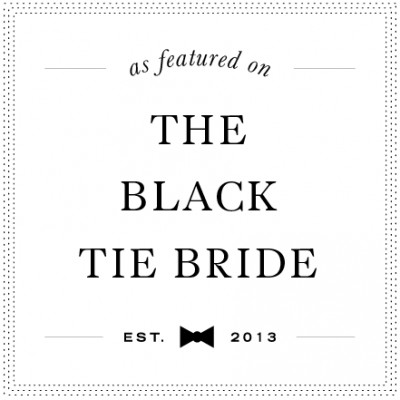 Featured on The Black! Tie Bride
