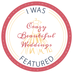 Featured on Crazy Beautiful Weddings: Rachel & Brian's Society Room Wedding